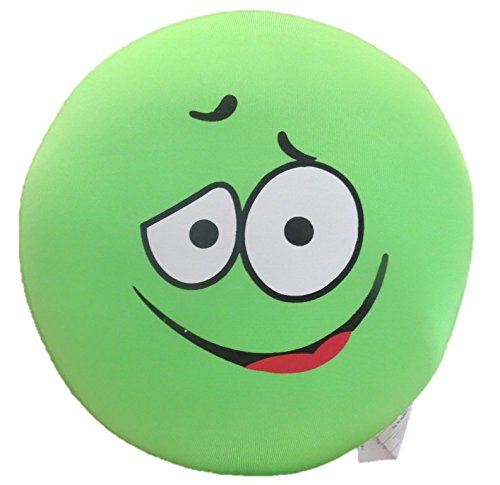 Tache I'm Sick of Green Fun Emoji Smiley Expressive Faces Squishy Microbead Throw Lounge Pillow Cushion -