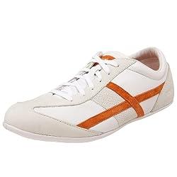 Springboost Women's SB Portofino Walking Shoe,White/Light Grey/Orange,10 M