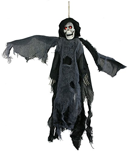 Black Lighted Animated Flying Reaper with Wings [92864] -