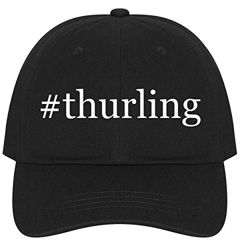 The Town Butler #Thurling - A Nice Comfortable Adjustable Hashtag Dad Hat Cap, Black