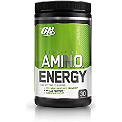 Optimum Nutrition Amino Energy with Green Tea and Green Coffee Extract, Flavor: Green Apple, 30 Servings