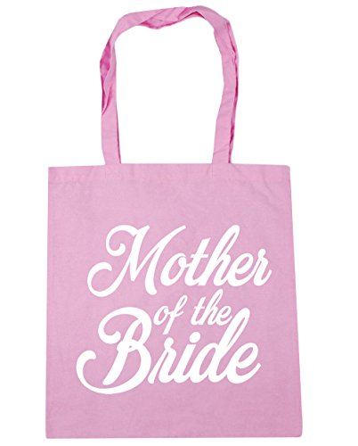 HippoWarehouse Mother of the Bride Tote Shopping Gym Beach Bag 42cm x38cm, 10 litres Classic Pink