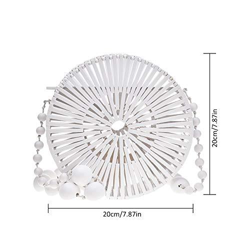 S Femme Portable Bambou à White pour Main en Sac Navigatee qRx46zzF