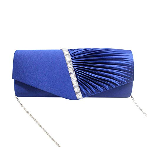 Prom Women's Handbag Wedding Purse Twill Fancy Bag Blue Party Clutch for Party Evening Events Rhinestone Navigatee Inlaid Crossbody fCd6xqd