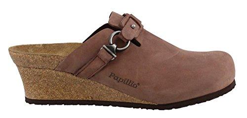 Papillio Women's Dana Clog Brown Oiled Leather Size 39 EU (8.5-9 N US Women) (Clog Birkenstock 39 Size)
