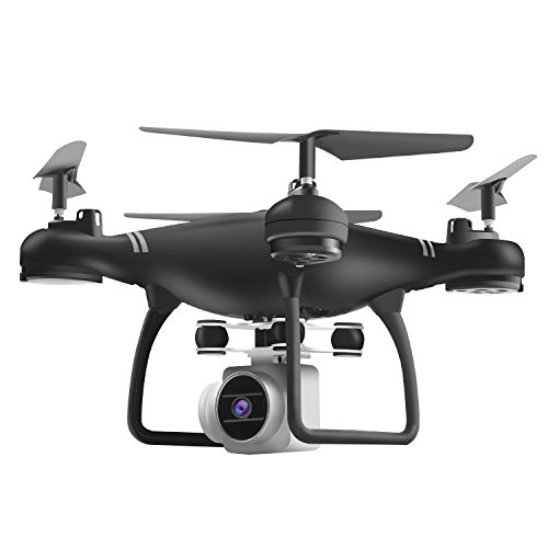 Amyove Drone Quadcopter HJ14W Wi-Fi Remote Control Aerial Photography Drone HD Camera 200W Pixel UAV Gift Toy Best Gift for Kids black