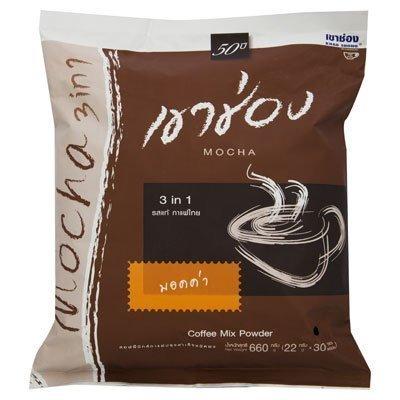 Khao Shong Instant Coffee Mixed Mocha Net wt.660g.(22g.x30sachets)