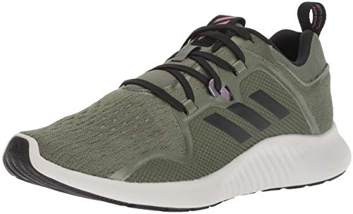 adidas Women's EdgeBounce Running Shoe, Base Green/Black/Trace Maroon, 8.5 M US