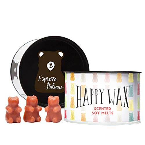 Happy Wax Espresso Italiano, Scented Soy Wax Melts - Bear Shapes Perfect for Mixing Melts in Your Warmer! (3.6 Oz)