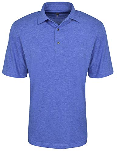 Greg Norman Men's Foreward Series Heathered Polo, Regal Blue Heather, XX-Large