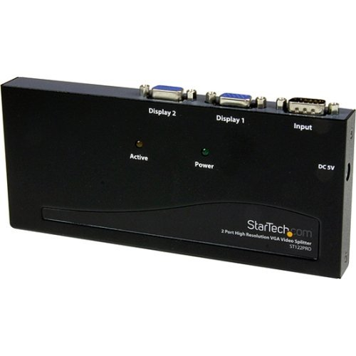 Startech.Com 2 Port High Resolution Vga Video Splitter - 350 Mhz - 1 X Computer ''Product Category: Switchboxes/Video Switchboxes''