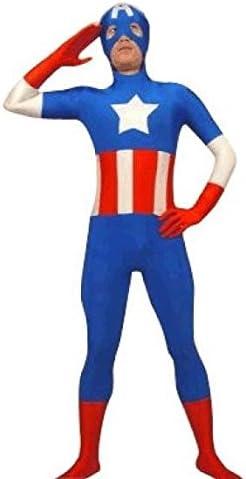 Capitán América SuperSkin Traje – Adulto Unisex Hombres y Mujeres ...