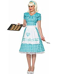 50's Housewife Dress With Apron 74391