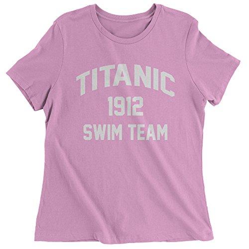 1912 Costumes The Titanic (Womens Titanic Swim Team T-Shirt X-Large Light Pink)