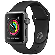 Apple Watch Series 2 Smartwatch 38mm Space Gray Aluminum Case Black Sport Band (Refurbished)
