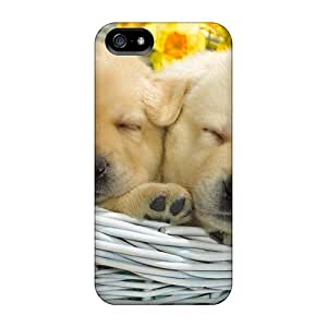 Hot CAAskVi1453wHrTi Case Cover Protector For Iphone 5/5s- 2 Sweet Puppies Sleeping