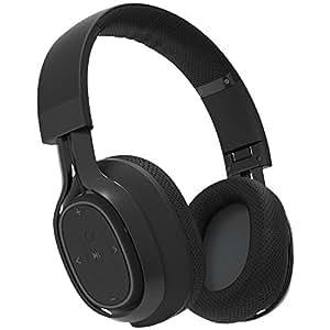 BlueAnt - Pump Zone Over Ear HD Wireless Headphones, Mega Bass and Enhanced Sound Purity (Black)