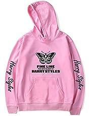QSMGRBGZ Casual Hooded Sweatshirt, casual Unisex Hooded Trui, mode vlinder afdrukken lange mouw ronde hals Pullover Hoodies, met zak