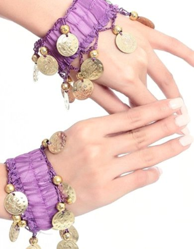 BellyLady Belly Dance Wrist Ankle Cuffs Bracelets, Halloween Costume Accessory