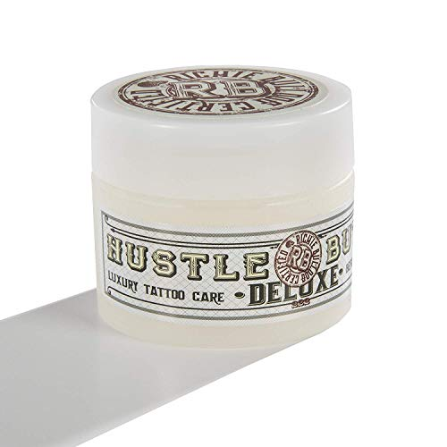 Tattoo Professional - Hustle Butter Deluxe – Tattoo Butter for Before, During, and After the Tattoo Process – Lubricates and Moisturizes – 100% Vegan Replacement for Petroleum-Based Products – 1 oz