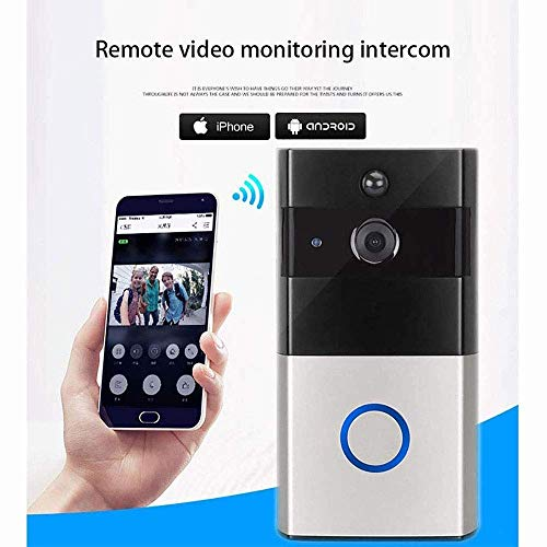 Mopoq WiFi Video Doorbell, Smart Doorbell 720P HD WiFi Security Camera Real Time Video Two Way Audio Waterproof PIR Motion Detection Night Vision APP Monitor (Color : 32G Memory Card)