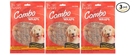 Pet Factory Combo Wraps Twist Rolls for Dogs, 8 count (88883) - Pack of 3 by Pet Factory