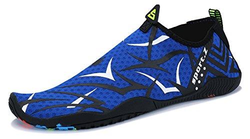 MAYZERO Water Shoes Mens Womens Quick Dry Beach Swim Barefoot Aqua Shoes for Beach Pool Swim Surf Yoga Exercise 77-blue Xb3Nzfsz