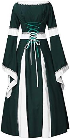 [해외]Sumeimiya Womens Medieval Dress Renaissance Costumes Irish Over Long Dress Cosplay Retro Gown Queen Ball Gown / Sumeimiya Womens Medieval Dress Renaissance Costumes Irish Over Long Dress Cosplay Retro Gown Queen Ball Gown