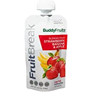 Buddy Fruits FruitBreak Blended Fruit On The Go, Strawberry Bannana and Apple, 4.2 oz Pouches (Pack of 14)