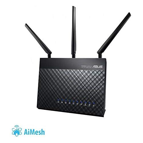 chollos oferta descuentos barato ASUS DSL AC68U Router Inalámbrico AC1900 Mbps Dual Band VDSL ADSL 2 Gigabit USB 3 0 compatible con Ai Mesh wifi