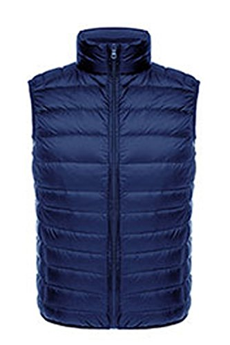 Fall Navy Dad Sleeveless Puffer Down Coat And Blue Vests YMING Lightweight Women's Winter T4qU6U
