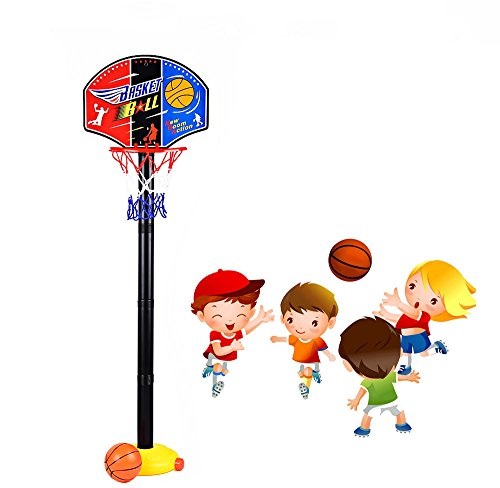 Mini Adjustable Basketball Hoop Stand Super Sport Set Child Toy with Inflator Pump for Baby Christmas Gift
