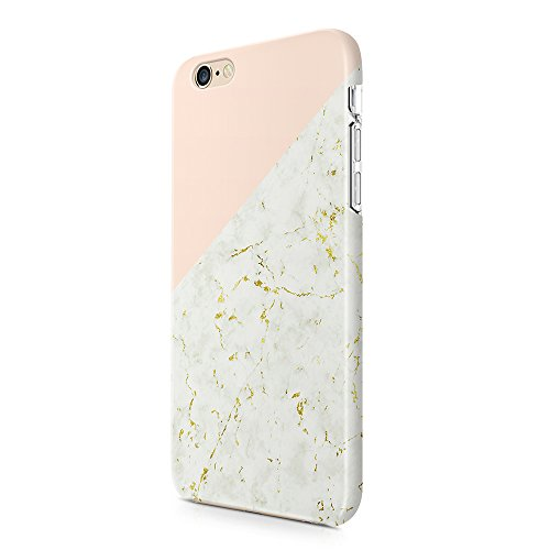 Gold Marble Case iPhone 6 6S uCOLOR Pink Geometric Dual-Layer Hard Back+Flexible TPU Protective Cover iPhone 6 6S-