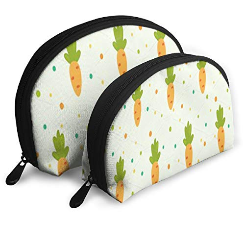(Makeup Bag Vegetable Radish Pattern Portable Shell Pouch For Girls Halloween Gift 2)