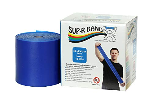 - CanDo 10-6324 Sup-R Latex Free Exercise Band, 50 yd Roll, Blue-Heavy