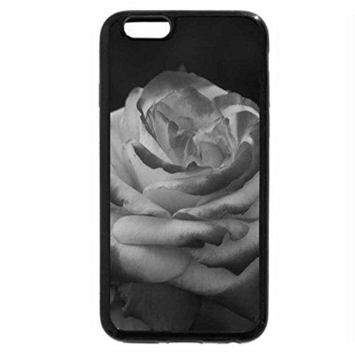 iPhone 6S Plus Case, iPhone 6 Plus Case (Black & White) - lovely rose