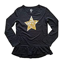 Sequin Star Long Sleeve Shirt for Girls