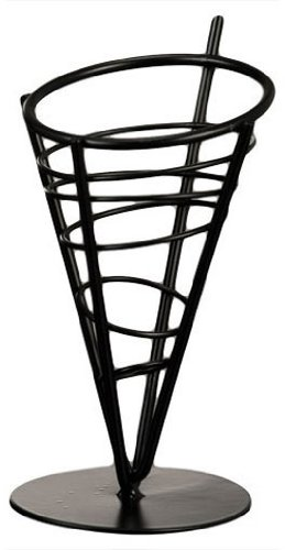 American Metalcraft FFB59 Wrought Iron 1-Cone Conical Basket, 9-Inch INC.