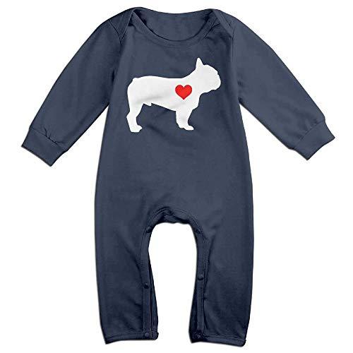 TYLER DEAN Baby Boy Coverall French Bulldog Heart-1