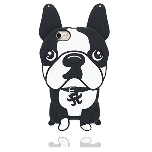 """Coque iPhone 7, [ TPU Material Flexible 3D chien Chiot ] Bulldog Cover Hosse Étui pour iPhone 7, Dust Slip Scratch Resistant, iPhone 7 Case (4.7"""") et ring Support de téléphone"""