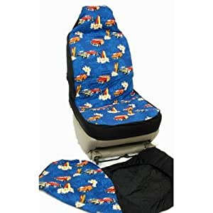 hawaiian car seat covers surfers car blue. Black Bedroom Furniture Sets. Home Design Ideas