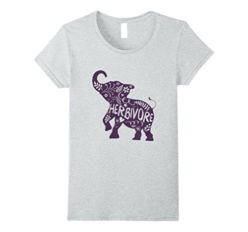 Women's Herbivore Elephant Shirt for Men and Women in 5 Colors Medium Heather Grey