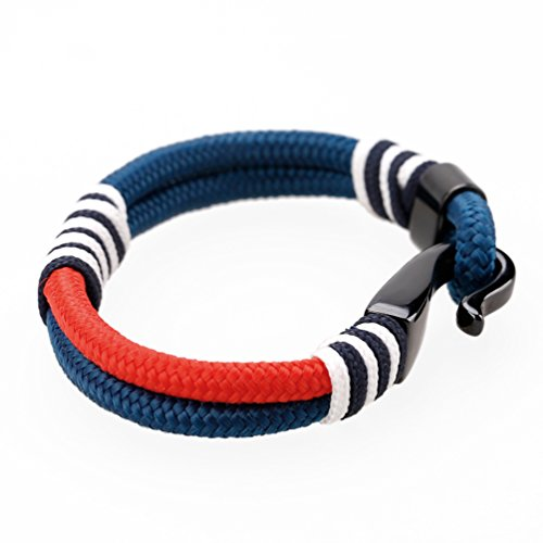MEITS Nautical Rope Bracelet With Stainless Steel Anchor and Colorful Rope-Anchor Bracelet-Unisex Bracelet-Sailor Bracelet - Great Jewelry Gift Idea for Men & Women (20.0) Photo #2