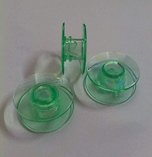 25 Green bobbins In Box for Viking Husqvarna sewing machines Plastic 4131825-45