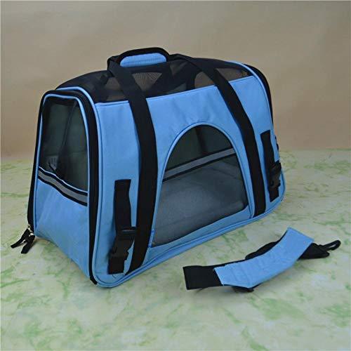 QKEMM Hundetasche Hundetragetasche Katzentragetasche Transporttasche Reise Atmungsaktives Tragbares Reisen Transportbox…