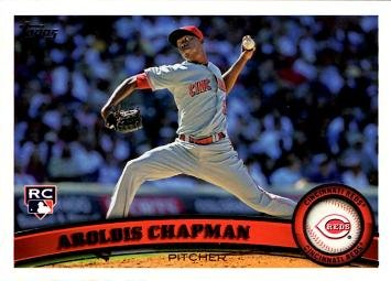 2011 Topps Baseball #110 Aroldis Chapman Rookie Card