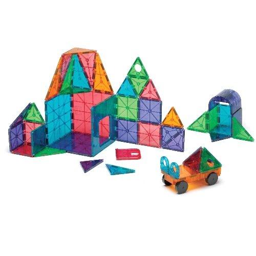 Magna-Tiles 12148 Clear Colors 48 pc DX set Toy - Magna Tiles