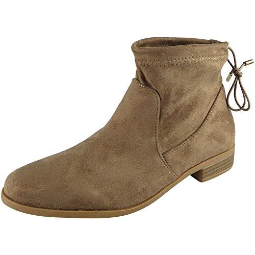 Loud Look Womens Low Heel Casual Chelsea Work Tie Up Ankle Boots 3-8 Khaki vqumBEddV