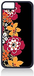 Flower Pattern - Case for the Apple Iphone 5C-Hard Black Plastic Outer Shell with Inner Soft Black Rubber Lining BY RANDLE FRICK by heywan