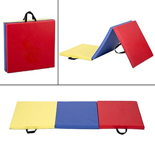 BestMassage 6′ Folding Panel Gymnastics Mat Gym Fitness Exercise Mat